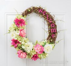 Celebrate Mother's Day with a beautiful DIY wreath!