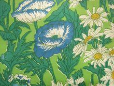 Vintage Daisy and Poppy Retro Flower Margaret Smith by corrnucopia, $18.00