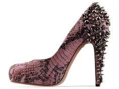 Sam Edelman Yuma pink python studded heels. #pink #shoes