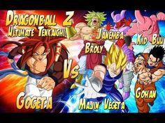 Dragonball Z: SS4 Gogeta Vs Kid Buu, Broly, Ultimate Gohan, Vegeta & Jan...