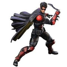 Square Enix Batman: Arkham Origins robin play arts kai Action Figure : ROBIN is a dynamic crime fighter: not only well-versed in handling any and all types of w
