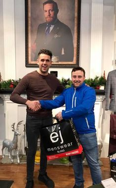 Pictured is our recent jacket competition winner Joe Magee receiving his brand new Superdry Jacket from staff member Mark Cunningham just in time for storm Deirdre! Congrats again Joe! EJ Competition Winner - It Could Be You! Superdry Jackets, Competition Time, Brand New, Pictures, Fictional Characters, Photos, Photo Illustration, Fantasy Characters, Resim