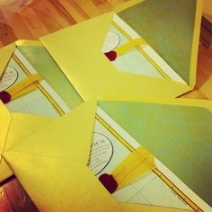 Our Hawaiian invitations with Carta Ribbon and wax seals! All finished being printed and assembled!