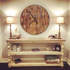 Farmhouse Clock Co. Extra Large Round wall clock by BushelandPeckFarm on Etsy