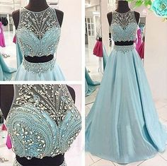 Upd0069, 2 Piece Prom Gown,Two Piece Prom Dresses,Evening Gowns,2 Pieces Party Dresses,Evening Gowns,Sparkle Formal Dress, For Teens