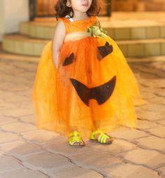 Adorable pumpkin costume