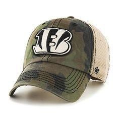 pretty nice 10f60 de7cf Cincinnati Bengals Burnett Clean Up Frontline Green Camo 47 Brand Adjustable  Hat - Detroit Game Gear