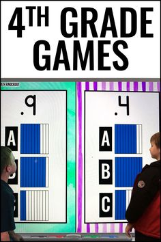 Fourth grade students will love this Math Game resource {Decimals Knockout}. This pack includes 10 games with over 30 slides each that cover comparing decimals, converting fractions to decimals, and more. This quick-paced game also builds character by emphasizing teamwork and good sportsmanship for 4th graders. Grab a free sample download today to see how your students love this exciting review that can be used in a center or as a whole class review. #Math #4thGrade #Knockout #Decimals Math For 4th Graders, 4th Grade Math Games, Fourth Grade, Math Activities, Place Value Math Games, Decimal Games, Comparing Decimals, Upper Elementary Resources, Classroom Games