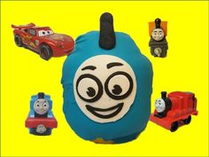 GIANT THOMAS Surprise Egg - Thomas and Friends Toy Trains Lightning McQueen for Children Video