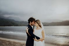 Hawaii wedding, beach wedding, portrait, couple, wedding