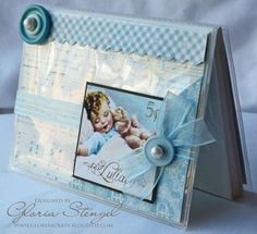 Genius baby gift idea from @Gloria Stengel! An altered Little Darlings photo album! #graphic45 #album