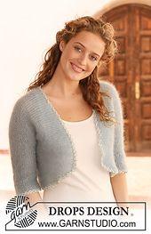 Ravelry: 113-10 bolero in garter st in 2 threads Kid-Silk pattern by DROPS design