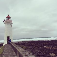 Port fairy lighthouse.  #lighthouse #portfairy #portfairylighthouse #portfairylighthousewalk #adventuretime by michelle_krammer
