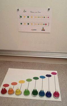 Partitions pour clochettes musicales colorées