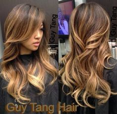 Like this dark brown with highlights hair colour