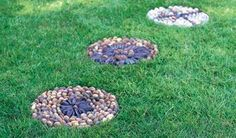 How to make pebble mosaic stepping stones