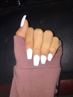 74 Stunning Short White Acrylic Nail Designs to Inspire You - Short acrylic nails coffin - Acrylic Nails Coffin Short, Acrylic Nail Shapes, Simple Acrylic Nails, Square Acrylic Nails, Summer Acrylic Nails, Best Acrylic Nails, Square Nails, Acrylic Nail Designs, Nail Design Spring