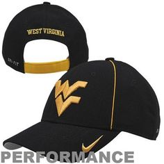 e57b962d Nike West Virginia Mountaineers 2013 Legacy 91 Coaches Adjustable  Performance Hat - Black Wvu Sports,