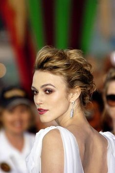 loose curly updo hairstyle