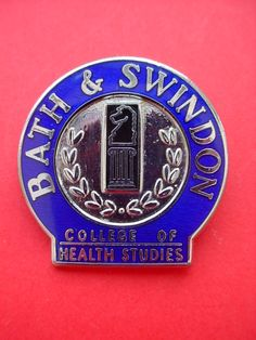 Nurses badge Bath & Swindon College of Health Studies History Of Nursing, Nursing Pins, Vintage Nurse, Nurse Badge, Nurse Stuff, Nurse Humor, Nurses, Badges, Fossil