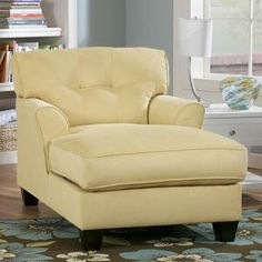 @Paul McKay This would be great in our bedroom! Nebraska Furniture Mart – Ashley Buttonless Tufted Two-Arm Chaise