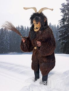 """From the current National Geographic article """"Wild Men of Europe"""". Sauvage at Carnival, Switzerland."""