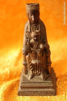 figura virgen de montserrat moreneta cataluña 2 - Comprar Antigüedades Religiosas varias en todocoleccion - 213877580 Barcelona, Buddha, Statue, Retro, Antiques, Art, Auction, Bronze, Antiquities