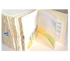 Artists book HOME HEART HOME original watercolour by ESSAYBOGPOESI