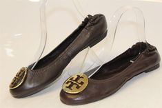 8ab97eb978473 Tory Burch NEW MISMATCH 7.5 7 M Reva Womens Brown Leather Ballet Flats  Shoes ob