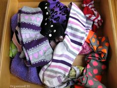 Organize Your Sock Drawer - Use a repurposed sandwich box to keep yoursock drawer neatly organized. Socks are one of the toughest clothing ite…