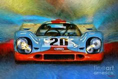 Porsche 917k Photograph - Porsche 917k Steve Mcqueen Le Mans Car by Blake Richards