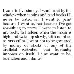 Live Simply; Boundlessly & Infinitely