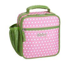 Mackenzie Pink Dot Lunch Bags #pbkids