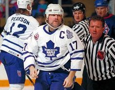 Wendel Clark beloved Captain of the Toronto Maple Leafs holds a special place in the hearts of millions. Hockey Rules, Hockey Teams, Ice Hockey, Sports Teams, Hockey Baby, Sports Pics, Maple Leafs Hockey, National Hockey League