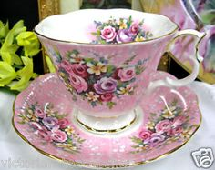 ROYAL ALBERT PINK FLORAL TEA CUP AND SAUCER