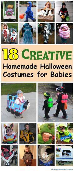 Halloween Costume Ideas: 18 Creative Homemade Halloween Costumes for Babies. Theme Halloween, Homemade Halloween Costumes, Holidays Halloween, Halloween Kids, Halloween Crafts, Happy Halloween, Halloween Decorations, Hallowen Ideas, Baby Costumes