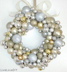 ... showed ya'll the ornament wreath I made last week (seen here - See more amazing DIY Chrsitmas Wreath ideas at DIYChristmasDecorations.net!