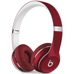Beats By Dr. Dre Solo 2 Luxe Headphones ($200) ❤ liked on Polyvore featuring accessories, tech accessories, luxe red, beats by dr. dre, red headphones and beats by dr dre headphones