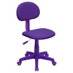 Purple Fabric Ergonomic Swivel Task Chair - Flash Furniture