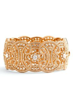 Free shipping and returns on Nadri Large Hinged Bangle at Nordstrom.com. Art Deco pattern gives vintage glam to a handcrafted bangle topped on one side with glistening crystal embellishments.