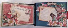 Graphic 45 A Christmas Carol 6 X 4 Pocket Mini Album tutorial From Start To Finish by Anne Rostad