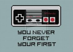 Never Forget Your First cross stitch pattern by avatarswish.deviantart.com on @deviantART