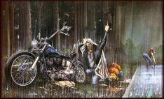No one hates rain like a biker. David Mann