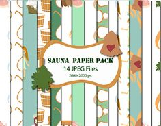 """Check out new work on my @Behance portfolio: """"SAUNA PAPER PACK"""" http://be.net/gallery/50400779/SAUNA-PAPER-PACK"""