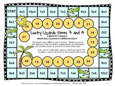 Multiplication Board Games to review basic multiplication by Games 4 Learning - 28 Printable Game Boards $