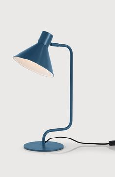 Truman Table Lamp in Blue. £35. MADE.COM