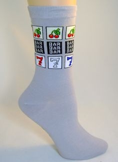 This is hilarious! Slot Machine, Illinois, Vegas, Hilarious, Socks, Gift Ideas, Baby, Hilarious Stuff, Sock