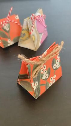 Origami Gift Bag, Paper Crafts Origami, Easy Paper Crafts, Diy Crafts Hacks, Diy Crafts For Gifts, Crafts For Kids, Diy Projects, Creative Gift Wrapping, Gift Packaging