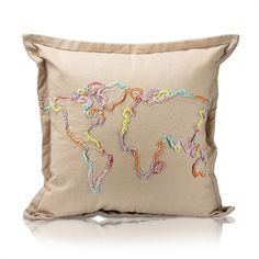 Rosenberry Rooms has everything imaginable for your child's room! Share the news and get $20 Off your purchase! (*Minimum purchase required.) Khoja World Map Pillow #rosenberryrooms