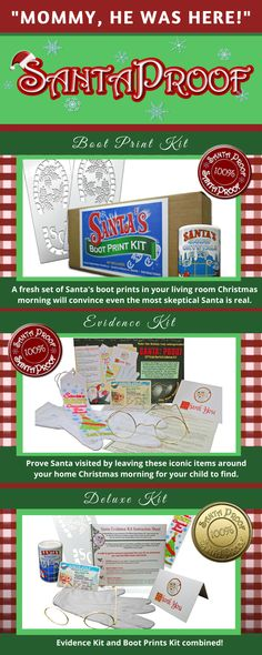 #Santa #evidence #ideas #kit #proof #magic #nick #father #christmas #childhood #toyland #footprint #print #reindeer #rudolph